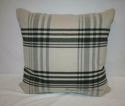 24x24 large beige khaki tan black gray plaid decorative throw pillow ebay