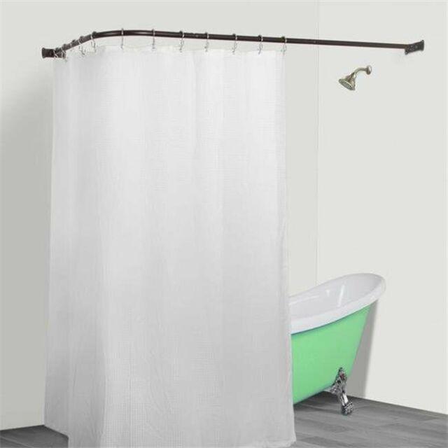 utopia alley rustproof l shaped corner shower curtain rod bronze
