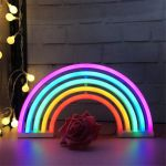 5 Tube Colorful Rainbow Neon Sign Led Night Light Wall Lamp For Kids Room Decor Ebay