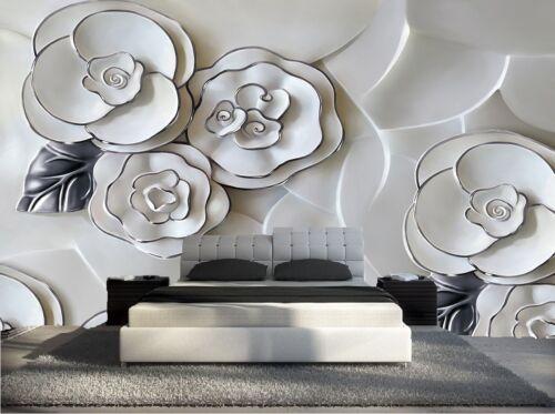 autres outils et accessoires pour papier peint papier peint 3d trompe l oeil moderne photo murale 3d fleur nature 026 materiel de bricolage momentapp hu