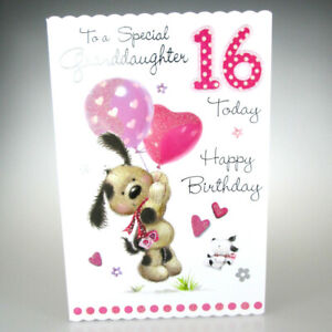 To A Special Granddaughter 16 Today Cute 16th Birthday Card With Lovely Words 5038720039647 Ebay