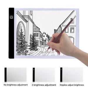 LED Tracing Board Light Box Stencil Drawing Thin Pad Table Tattoo Artist Art A4