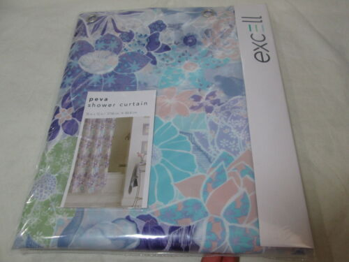 bathroom supplies accessories excell home fashions paper flowers peva shower curtain 70x72 multi colors new garden curtains