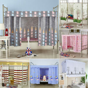 details about single bed bunk bed tent curtain student dormitory light shading bed canopy spre