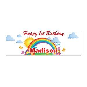 3ft Rainbow Personalized Happy Birthday Banner Rainbow Party Birthday Banner Ebay