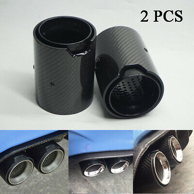 67mm inlet 92mm outlet carbon fiber car exhaust pipe tips for bmw m performance ebay