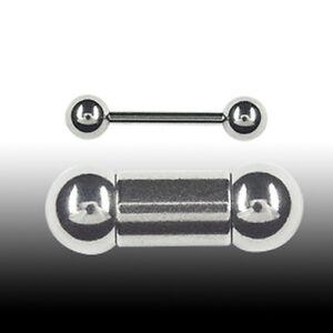 Piercing Stab 4mm Barbell Ohr Brust Intim Piercing Hantel Stecker mit 2 Kugeln