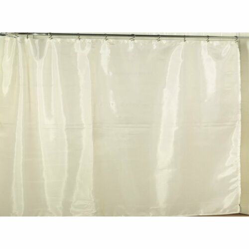 carnation home extra wide polyester fabric shower curtain liner in ivory