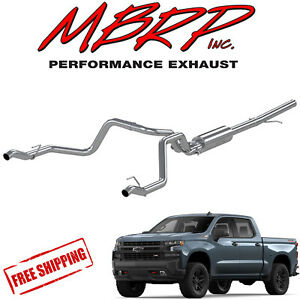 details about mbrp t409 stainless cat back dual exhaust 2019 2021 silverado sierra 1500 5 3 v8