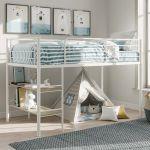 Twin Loft Bed With Desk Bunk For Kids Stairs Bedroom Furniture Metal Shelves Boy For Sale Online Ebay