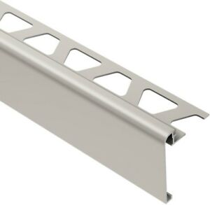 details about floor bath wall metal tile edging trim schluter rs80at39 stair nosing nickel