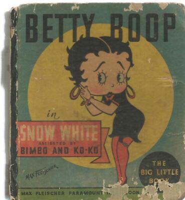 betty boop in snow white original vintage 1934 whitman big little book ebay