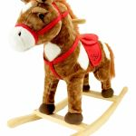 Animal Horse Ride On Kids Toy Real Wood Toddler Rocker Rocking Chair Ages 3 New