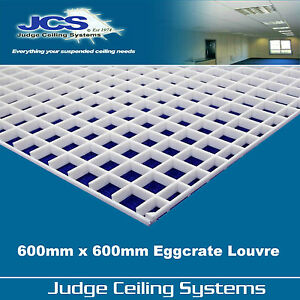 details about 600mm x 600mm egg crate louvre light diffuser suspended ceilings and lighting