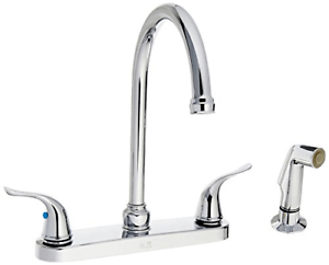 details about ez flo 10201 2 handle kitchen faucet with pull out side sprayer chrome 4 hole