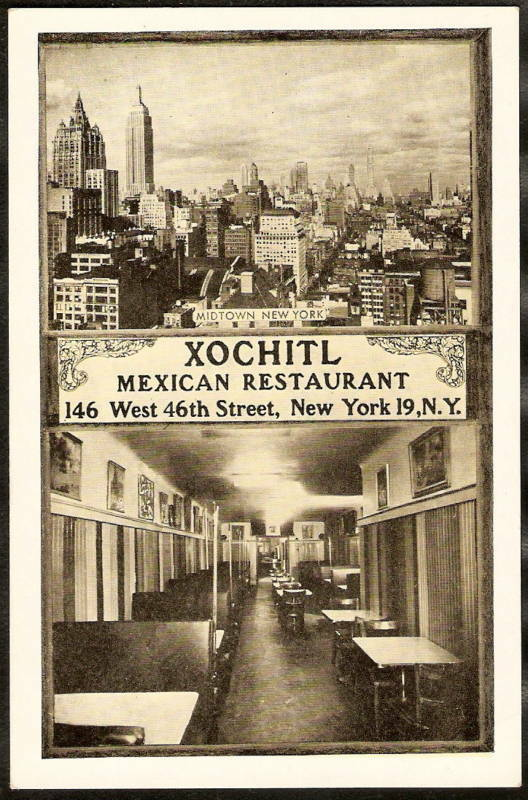 Vintage Xochitl post card circa the late 1930s or early 1940s