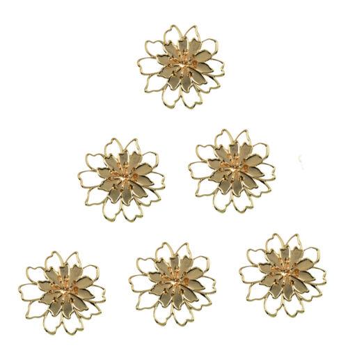 6 pcs fashion 3d large filigree flower home mirror wall art deco stickers