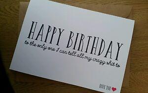 Funny Best Friend Happy Birthday Card Friends Forever Handmade Ebay