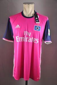 details zu hsv hamburger sv trikot gr l xl xxl 2016 18 neu pink hamburg away jersey shirt