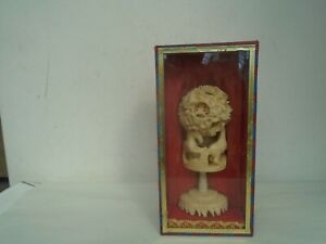 Splendid Chinese celluloid puzzle ball with horses display stand & original box