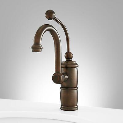signature hardware marcella single hole bathroom faucet brass oil rubbed bronze ebay