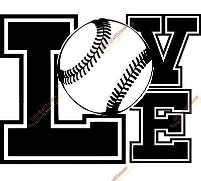 Download Baseball LOVE SVG DIGITAL File | eBay