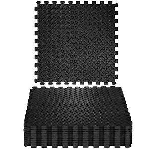 details sur 12x tapis mousse de sol ensemble tapis puzzle fitness protection gym eva 61x61cm
