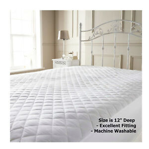 Image Is Loading Luxury Microfiber Mattress Protector Soft Bed Cover And