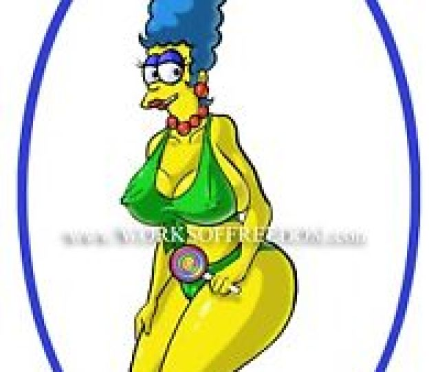 X Pin Up Sexy Cartoon Marge Simpson The Simpsons Art Print