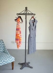 details about spinning clothes rack antique style industrial garment stand decor coat hat rack