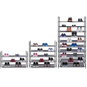 details sur 3 5 10 niveaux etagere rangement chaussure rack organisateur pour 15 25 ou 50 paires de chaussures afficher le titre d origine