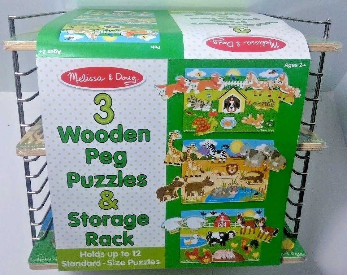 melissa and doug wooden puzzle holder
