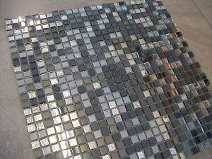 details about disco mix mirror glass mosaic tile sheets 30cm x 30cm