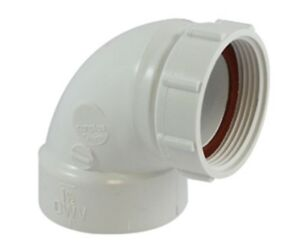 details about canplas 212291aw 90 degree sink strainer and trap adapter 1 1 2