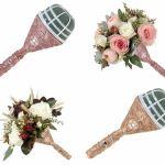 Wedding Bouquet Holder Bride Flowers Handle Diy Bridal Floral Foam Jewelled Ebay