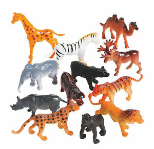 Image of: Jungle Image Is Loading 12safariwildanimalszoojunglepartyfavors Ebay 12 Safari Wild Animals Zoo Jungle Party Favors Cupcake Topper Toys