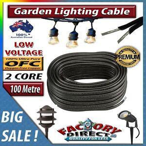 100m 2 core low voltage 1 5mm outdoor