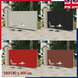details about garden patio terrace side awning retractable free standing wall shade screen uk