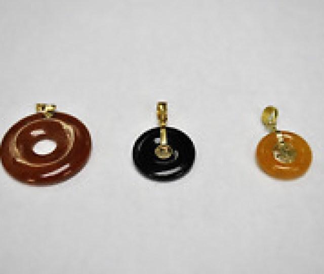 K Gold Jade Round Top Black Yellow And Brown  Pcs Set