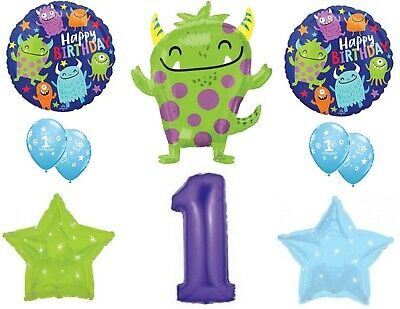 Little Monster S First 1st Birthday Party Balloons Decoration Supplies Ebay