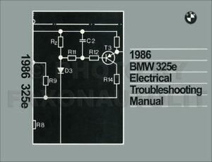 1986 BMW 325e Electrical Troubleshooting Manual Wiring Diagram Book 325 e | eBay