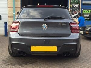 details about bmw 135i d f20 f21 quad tip conversion stainless steel
