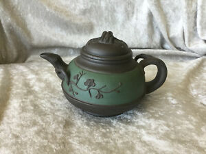 Rare Antique Handmade Chinese Yixing Zisha Clay Plum Tree Teapot Signed Seal
