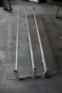 details about aluminum ladder rack for roof 7 foot wide haulmark enclosed trailers