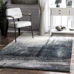Nuloom Contemporary Modern Abstract Area Rug In Grey Blue White For Sale Online