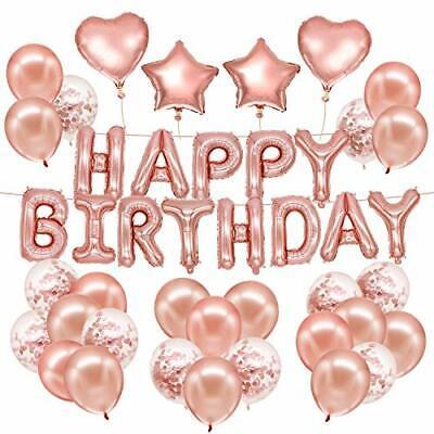 Husdow 70pcs Rose Gold Birthday Party Decorations Happy Birthday Banner 10pcs 663585861499 Ebay