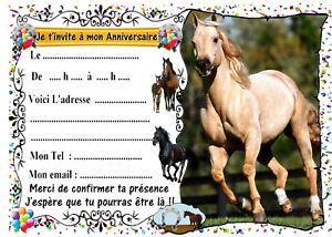 10 x cheval cartes de noel