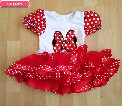 Cute Minnie Mouse Baby Girl Birthday Party Outfit Dress 1year To 3year Ebay