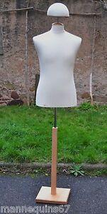 Mannequin Buste Porte Chapeaux Casque Homme Uniforme Vetement Vitrine Couture Ebay