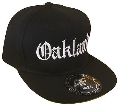 Oakland Ca Old English Flat Bill Snapback Snap Baseball Cap Caps Hat Hats Black 681565393747 Ebay